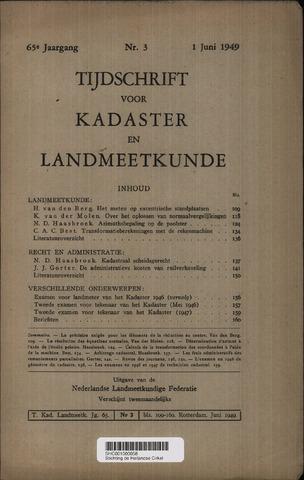 Tijdschrift voor Kadaster en Landmeetkunde (KenL) 1949-06-01