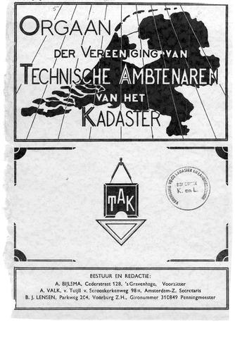 Orgaan der Vereeniging TAK 1940-10-01