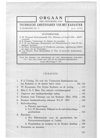 Orgaan der Vereeniging TAK 1952-07-01