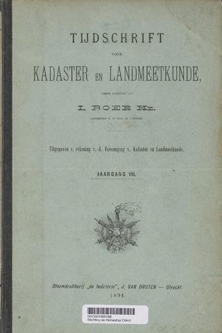 Tijdschrift voor Kadaster en Landmeetkunde (KenL) 1891