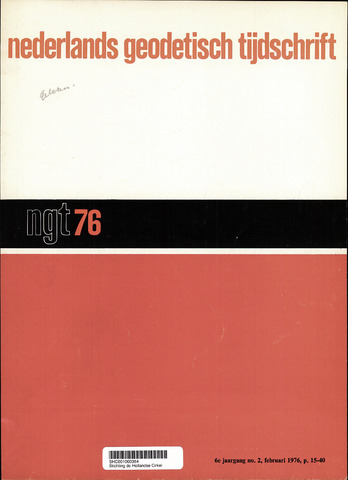 Nederlands Geodetisch Tijdschrift (NGT) 1976-02-01
