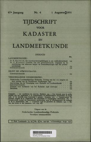 Tijdschrift voor Kadaster en Landmeetkunde (KenL) 1951-08-01