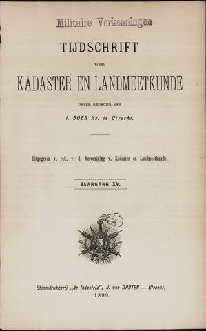 Tijdschrift voor Kadaster en Landmeetkunde (KenL) 1899