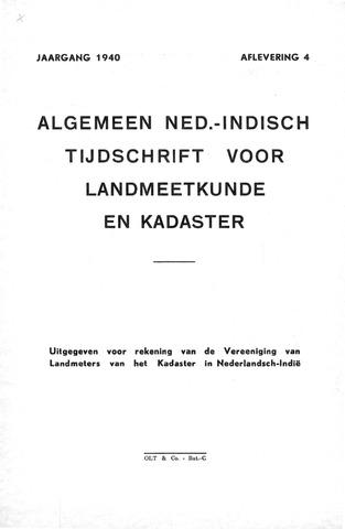 Tijdschrift voor het Kadaster in Ned.-Indië 1940-10-01