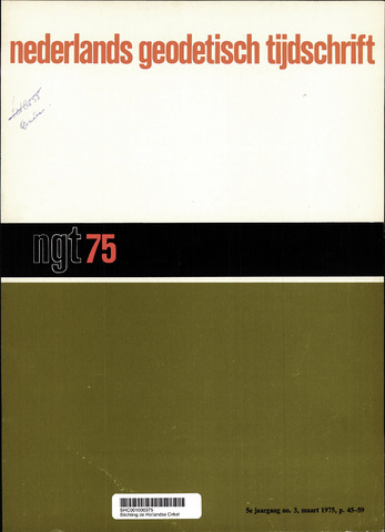 Nederlands Geodetisch Tijdschrift (NGT) 1975-03-01