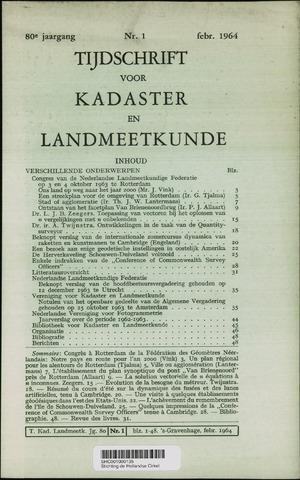 Tijdschrift voor Kadaster en Landmeetkunde (KenL) 1964