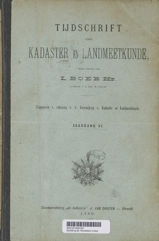 Tijdschrift voor Kadaster en Landmeetkunde (KenL) 1890