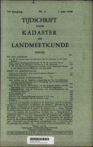 Tijdschrift voor Kadaster en Landmeetkunde (KenL) 1958-06-01