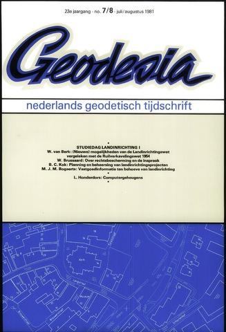(NGT) Geodesia 1981-07-01