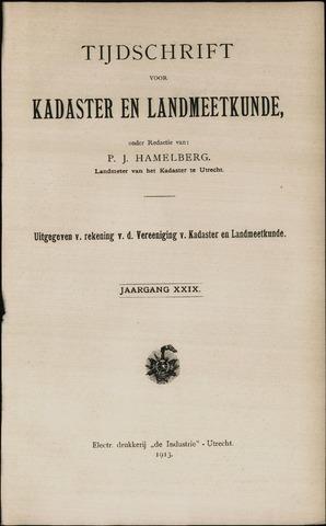Tijdschrift voor Kadaster en Landmeetkunde (KenL) 1913