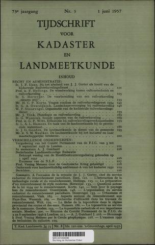 Tijdschrift voor Kadaster en Landmeetkunde (KenL) 1957-06-01