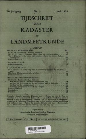 Tijdschrift voor Kadaster en Landmeetkunde (KenL) 1955-06-01