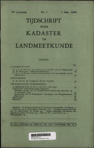 Tijdschrift voor Kadaster en Landmeetkunde (KenL) 1960