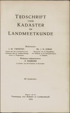 Tijdschrift voor Kadaster en Landmeetkunde (KenL) 1934