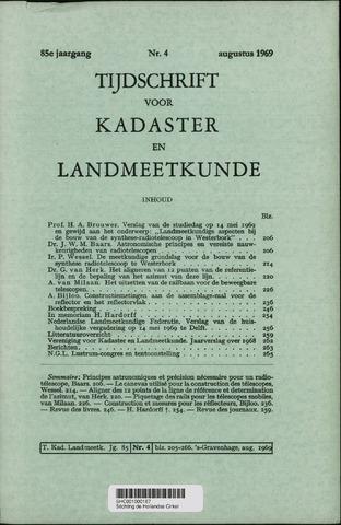 Tijdschrift voor Kadaster en Landmeetkunde (KenL) 1969-08-01