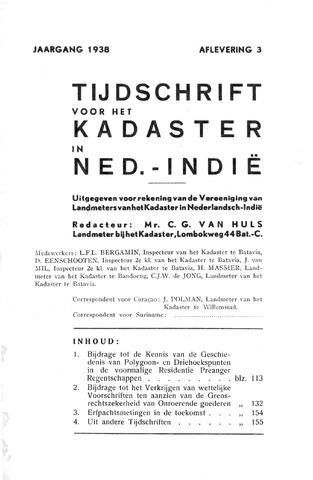 Tijdschrift voor het Kadaster in Ned.-Indië 1938-07-01