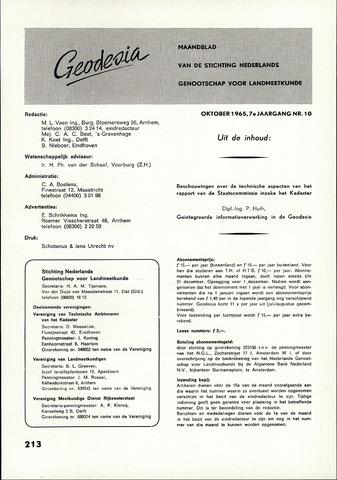 (NGT) Geodesia 1965-10-01