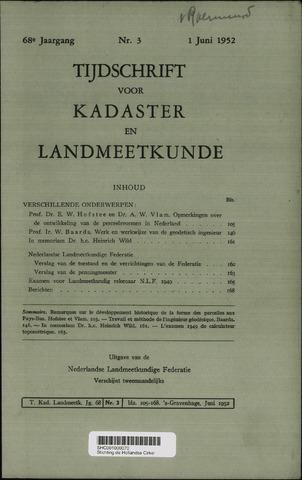 Tijdschrift voor Kadaster en Landmeetkunde (KenL) 1952-06-01