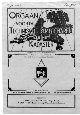 Orgaan der Vereeniging TAK 1943-12-01