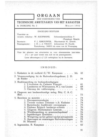 Orgaan der Vereeniging TAK 1950-03-01