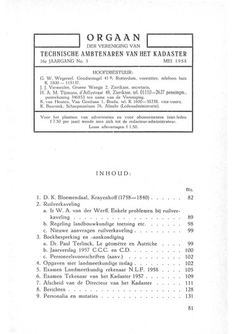 Orgaan der Vereeniging TAK 1958-05-01