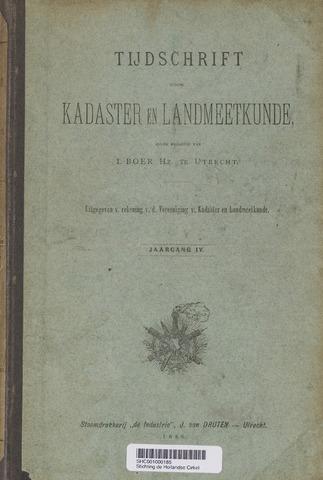 Tijdschrift voor Kadaster en Landmeetkunde (KenL) 1888