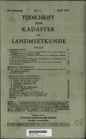 Tijdschrift voor Kadaster en Landmeetkunde (KenL) 1951-04-01