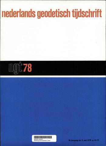 Nederlands Geodetisch Tijdschrift (NGT) 1978-05-01