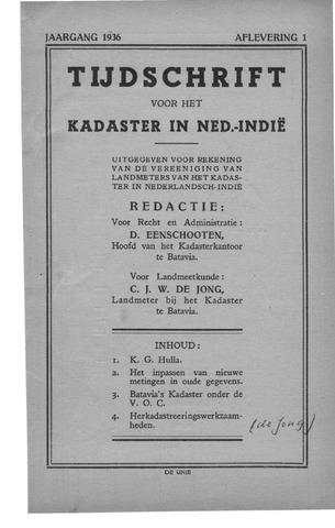 Tijdschrift voor het Kadaster in Ned.-Indië 1936-01-01