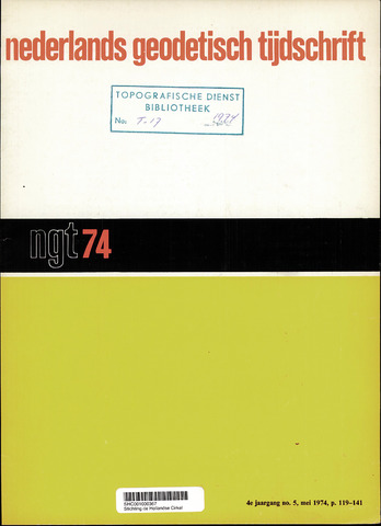 Nederlands Geodetisch Tijdschrift (NGT) 1974-05-01