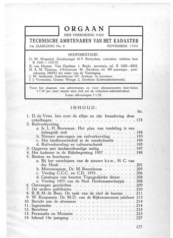 Orgaan der Vereeniging TAK 1956-11-01
