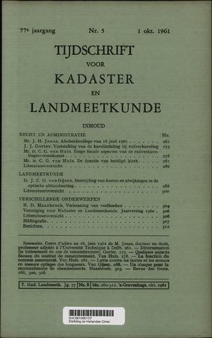 Tijdschrift voor Kadaster en Landmeetkunde (KenL) 1961-10-01