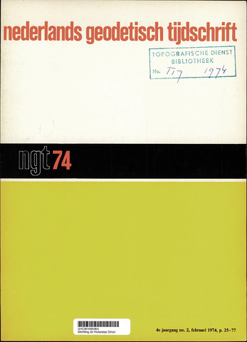 Nederlands Geodetisch Tijdschrift (NGT) 1974-02-01