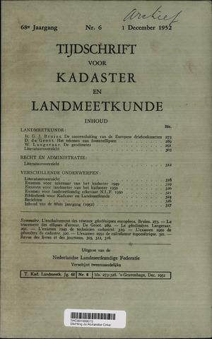 Tijdschrift voor Kadaster en Landmeetkunde (KenL) 1952-12-01