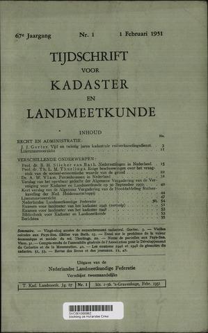 Tijdschrift voor Kadaster en Landmeetkunde (KenL) 1951