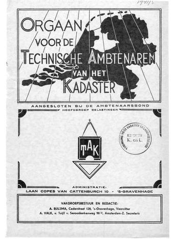 Orgaan der Vereeniging TAK 1941-10-01