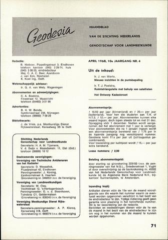 (NGT) Geodesia 1968-04-01