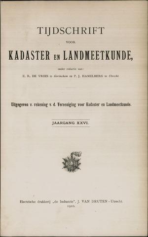 Tijdschrift voor Kadaster en Landmeetkunde (KenL) 1910