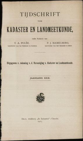 Tijdschrift voor Kadaster en Landmeetkunde (KenL) 1914