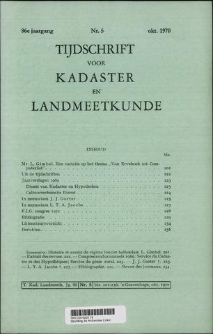 Tijdschrift voor Kadaster en Landmeetkunde (KenL) 1970-10-01