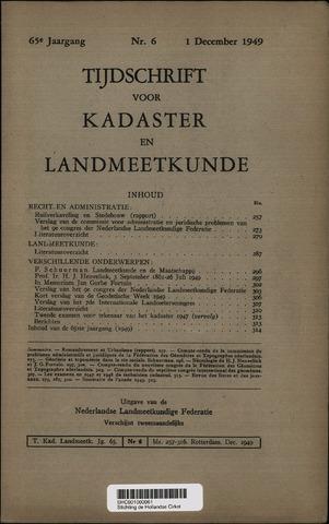 Tijdschrift voor Kadaster en Landmeetkunde (KenL) 1949-12-01