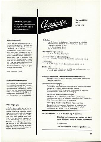 (NGT) Geodesia 1973-04-01
