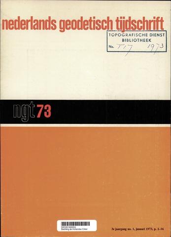 Nederlands Geodetisch Tijdschrift (NGT) 1973