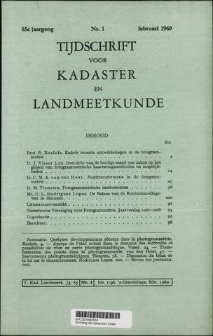 Tijdschrift voor Kadaster en Landmeetkunde (KenL) 1969