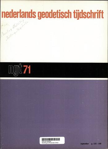 Nederlands Geodetisch Tijdschrift (NGT) 1971-09-01