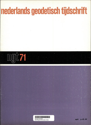 Nederlands Geodetisch Tijdschrift (NGT) 1971-04-01
