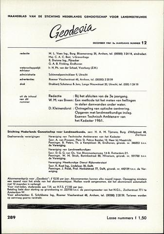 (NGT) Geodesia 1961-12-01