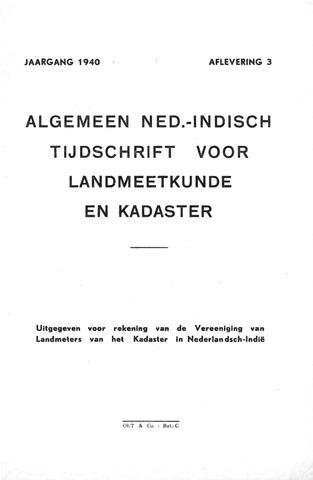 Tijdschrift voor het Kadaster in Ned.-Indië 1940-07-01