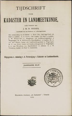 Tijdschrift voor Kadaster en Landmeetkunde (KenL) 1929
