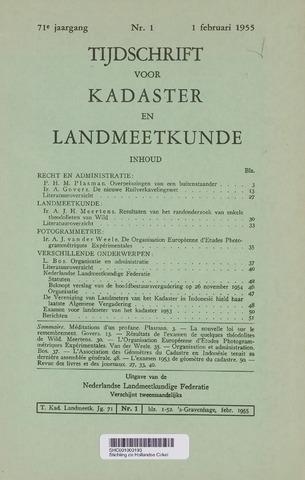 Tijdschrift voor Kadaster en Landmeetkunde (KenL) 1955